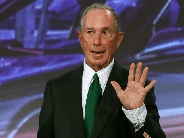 Former New York City Mayor Michael Bloomberg addresses the United States Conference of Mayors at the Fountainebleau Hotel on June 26, 2017 in Miami Beach, Florida. The mayors conference brought mayors from across the country together to urge Americans to move past what they say is WashingtonÕs stalled partisan gridlock …