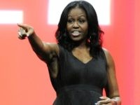 Former United States first lady Michelle Obama greets the audience during the AIA Conference on Architecture 2017 on April 27, 2017 in Orlando, Florida. Michelle Obama is making one of her first public speeches at the Orlando Conference since leaving the White House. (Photo by Gerardo Mora/Getty Images)