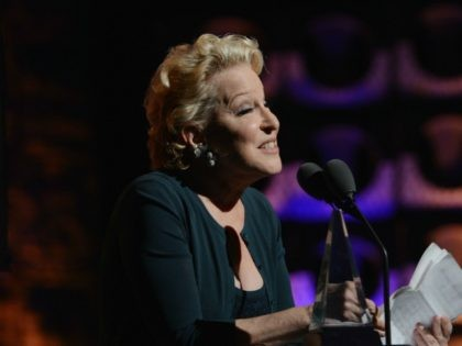 NEW YORK, NY - JUNE 14: Bette Midler speaks onstage at the Songwriters Hall of Fame 43rd Annual induction and awards at The New York Marriott Marquis on June 14, 2012 in New York City. (Photo by Larry Busacca/Getty Images for Songwriters Hall Of Fame)