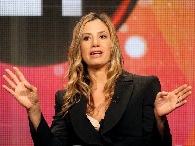 Actress Mira Sorvino speaks during the 'American Masters 25th Anniversary Season: Seriously Funny - The Comic Art of Woody Allen' panel during the PBS portion of the 2011 Summer TCA Tour held at the Beverly Hilton Hotel on July 31, 2011 in Beverly Hills, California. (Photo by Frederick M. Brown/Getty …