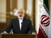 Iranian Foreign Minister Mohammad Javad Zarif speaks during a joint press conference with his French counterpart Laurent Fabius following their talks in Tehran on July 29, 2015. Fabius's visit to Iran comes after the conclusion of a landmark deal with the United States over the Islamic republic's controversial nuclear programme. …