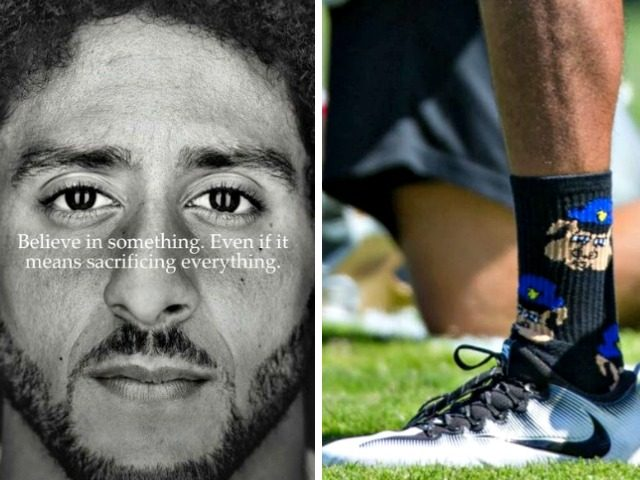 Kaepernick, Nike Ad, Pig Cop Socks