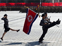 Soldiers march in a parade for the 70th anniversary of North Korea's founding day in Pyongyang, North Korea, Sunday, Sept. 9, 2018. North Korea staged a major military parade, huge rallies and will revive its iconic mass games on Sunday to mark its 70th anniversary as a nation.