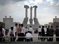 In this Oct. 8, 2015 file photo, North Koreans gather at a monument built 10 years ago to honor the founding of the Workers' Party of North Korea, in Pyongyang, North Korea. North Korea's ruling party says it will hold its biggest convention in decades next May. The Workers' Party …