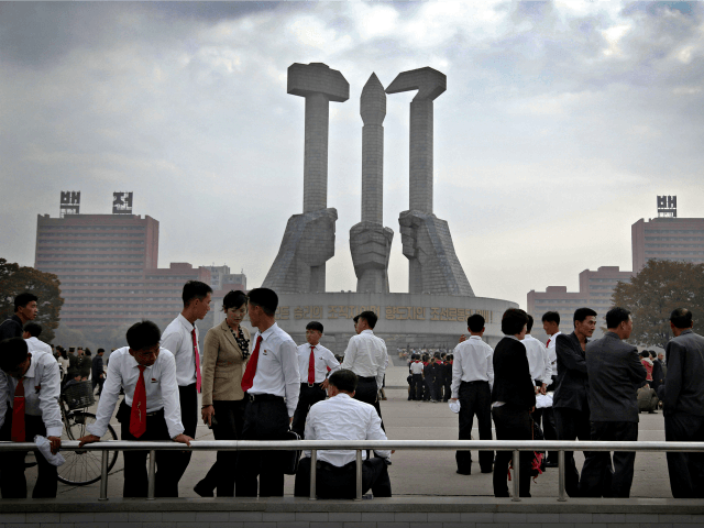 North Koreans gather at a monument built 10 years ago to honor the founding of the Workers&#039 Party of North Korea in Pyongyang North Korea. North Korea's ruling party says it will hold its biggest convention