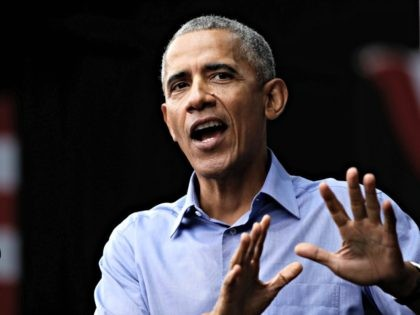 "In this Friday, Sept. 21, 2018 file photo, former U.S President Barack Obama speaks as he campaigns in support of Pennsylvania candidates in Philadelphia. Former U.S. President Barack Obama has on Wednesday, Sept. 26 taken a swipe at President Trump's attitude to the environment, saying the world needs ""political and …"