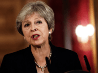 Britain's Prime Minister Theresa May makes a statement on the Brexit negotiations following a European Union summit in Salzburg, at no 10 Downing Street, central London on September 21, 2018. - British Prime Minister Theresa May said Friday the European Union's abrupt dismissal of her Brexit plan was not acceptable, …