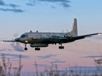 A photo taken on July 23, 2006 shows an Russian IL-20M (Ilyushin 20m) plane landing at an unknown location. - Russia blamed Israel on September 18, 2018 for the loss of a military IL-20M jet to Syrian fire, which killed all 15 servicemen on board, and threatened a response. Israeli …