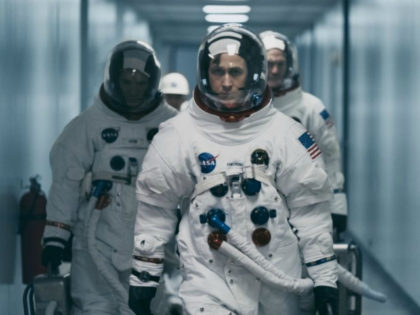 "yan Gosling in a scene from ""First Man."" (Daniel McFadden/Universal Pictures via AP)"