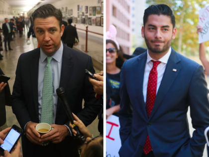 Duncan Hunter and Ammar Campa-Najjar (Joe Raedle and Sandy Huffaker / Getty)
