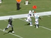 Dolphins Receivers High-Five Each Other On Way to End Zone