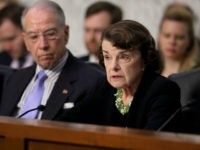 WASHINGTON, DC - SEPTEMBER 06: Senate Judiciary Committee ranking member Dianne Feinstein (D-CA) (R) and Chairman Charles Grassley (R-IA) engage in a debate with fellow members of the committee during the third day of Supreme Court nominee Judge Brett Kavanaugh's confirmation hearing in the Hart Senate Office Building on Capitol …