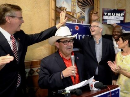 Texas Republicans Celebrate the victory of State Senator-Elect Pete Flores. (AP Photo: Eric Gay)