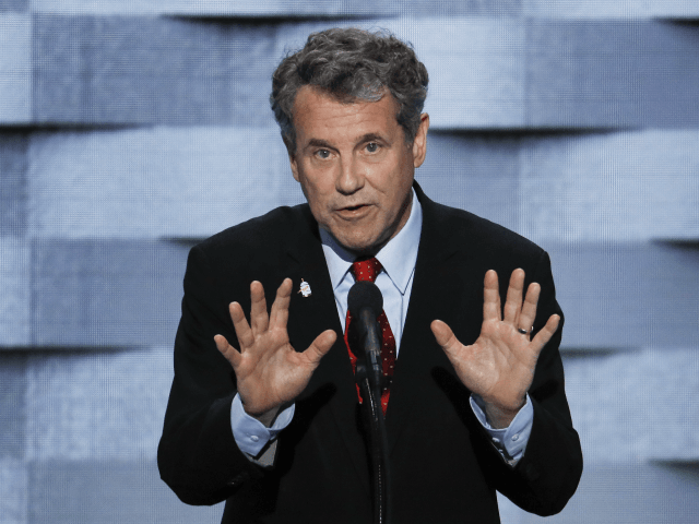 Sen. Sherrod Brown, D-Ohio speaks during the final day of the Democratic National Convention in Philadelphia , Thursday, July 28, 2016. (AP Photo/J. Scott Applewhite)