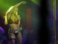 The actress Stephanie Clifford, who uses the stage name Stormy Daniels, performs at the Solid Gold Fort Lauderdale strip club on March 9, 2018 in Pompano Beach, Florida. Stephanie Clifford who claims to have had an affair with President Trump has filed a suit against him in an attempt to …