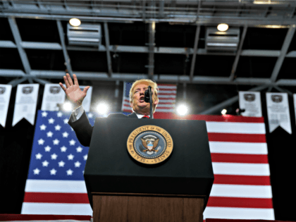President Donald Trump speaks during a campaign rally, Friday, Sept. 21, 2018, in Springfield, Mo.
