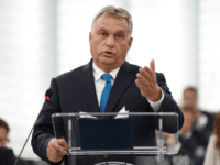 Hungary's Prime Minister Viktor Orban gestures as he delivers a speech during a debate concerning Hungary's situation as part of a plenary session at the European Parliament on September 11, 2018 in Strasbourg, eastern France. - Hungarian Prime Minister Viktor Orban vowed, on September 11, 2018, to defy EU pressure …