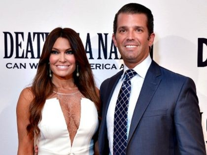 WASHINGTON, DC - AUGUST 01- Donald Trump, Jr. and Kimberly Guilfoyle attend the DC premiere of the film, 'Death of a Nation.""