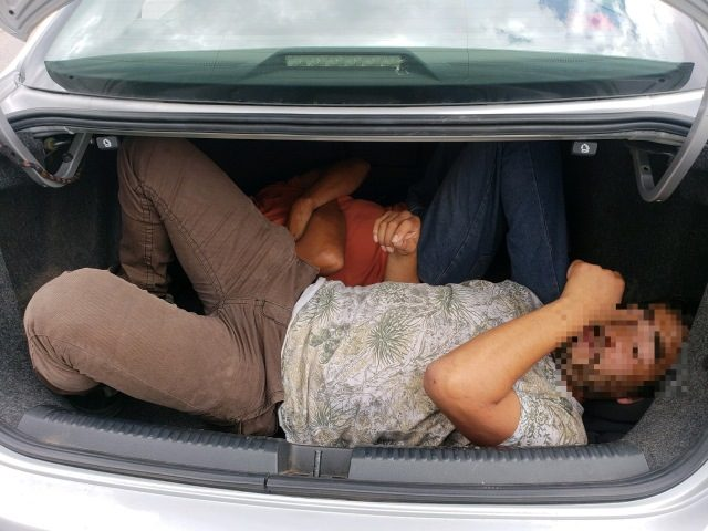 Two illegal aliens from Mexico locked in trunk in Southern Arizona heat during human smuggling attempt. (Photo: U.S. Border Patrol/Tucson Sector)