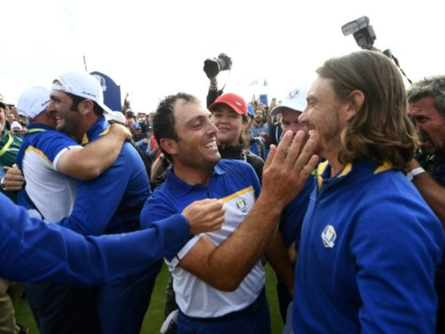 Europe thrash U.S. to regain Ryder Cup
