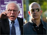 Bernie Sanders and Jeff Bezos