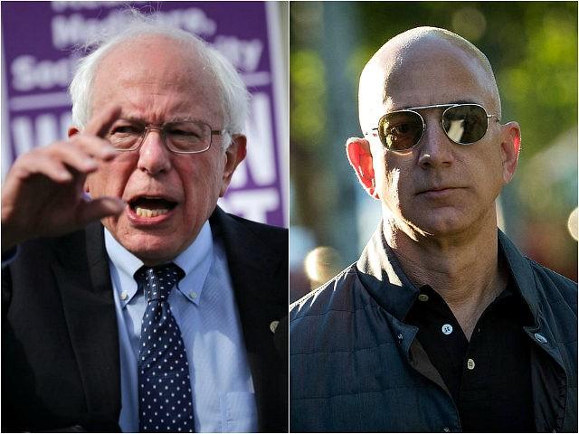 Bernie Sanders and Jeff Bezos