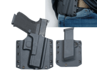 The BCA Kydex Gun Holster Combo provides everything needed to comfortably carry your firearm in full force. Whether you are a casual shooter or an enthusiast, the BCA Combo features everything you need at a discounted price.