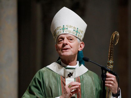 Archbishop Donald Wuerl celebrates mass at the Cathedral of Saint Matthew the Apostle in Washington, Wednesday, Oct. 20, 2010. Pope Benedict XVI today named Washington's Archbishop Donald Wuerl, 69, to the College of Cardinals. (AP Photo/Alex Brandon)