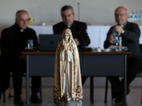 Picture of an image of the Virgin taken during an extraordinary meeting of Chile's Episcopal Conference to analyze the roots of the current crisis that the Catholic Church is experiencing in the country, burdened by the scandals of sexual abuse and cover-up, and how to overcome it, in Punta de …