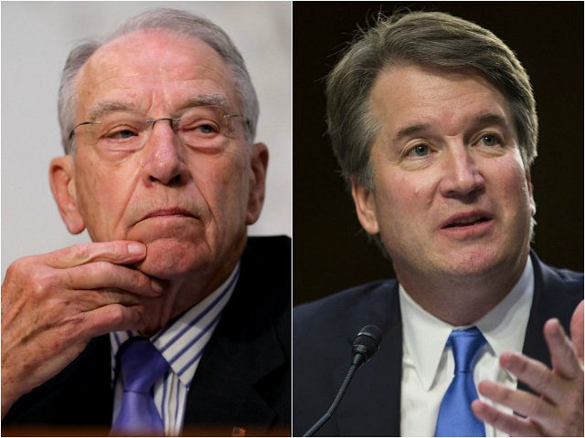 Sen. Chuck Grassley and Judge Brett Kavanaugh