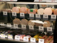 Meats are seen in a deli display at the Acme supermarket store in Lawrenceville, N.J., Tuesday, March 13, 2007. The Labor Department reported Thursday, March 15, 2007, that inflation at the wholesale level surged in February, pushed higher by a big jump in energy prices and the largest increase in …