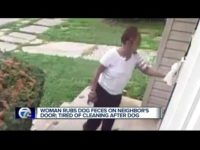 DETROIT, Mich. (WXYZ) - A Detroit woman came home on Saturday to dog feces rubbed all over her door.