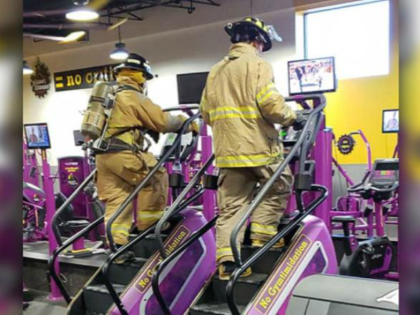 Georgia firefighters took over a local gym to climb stairs in honor of 9/11.