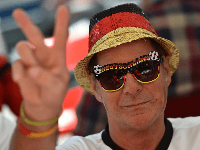 A fan of Germany shows his support before the UEFA EURO 2016 Semi Final between France and Germany on July 7, 2016 in Marseille, France. (Photo by Tullio M. Puglia/Getty Images)