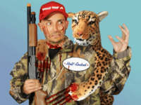 PETA Sells Halloween Costume of Trump Jr. Carrying Bloody Leopard
