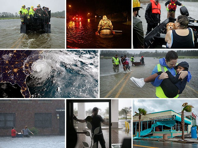 Scenes from Hurricane Florence making landfall on the United States' east coast.