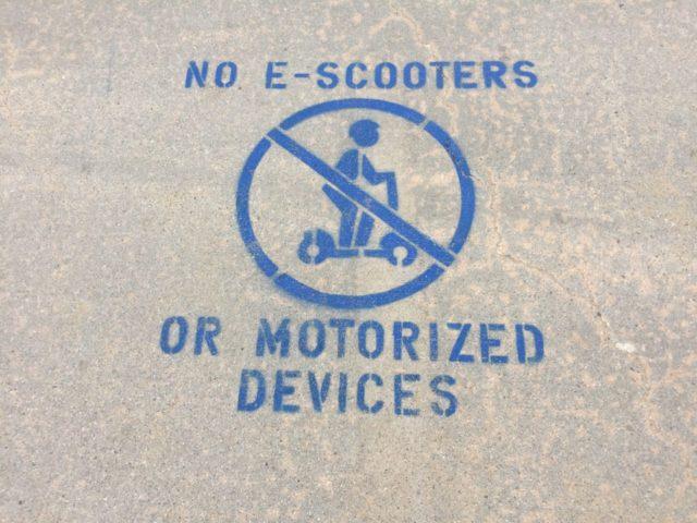 Electric Scooter ban (Joel Pollak / Breitbart News)