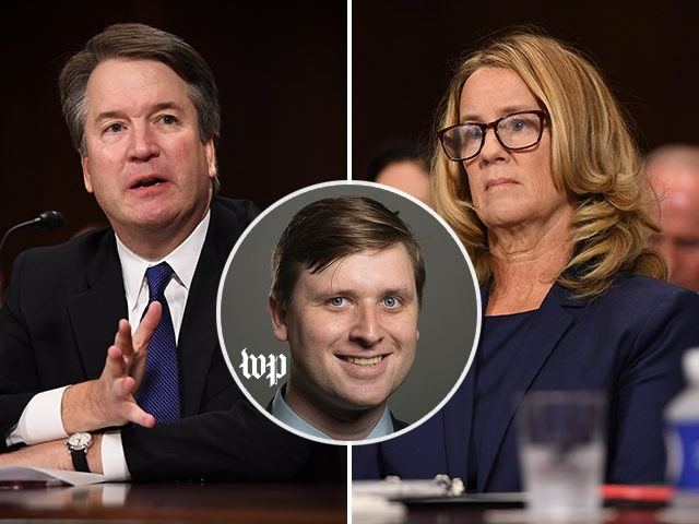 """James Hohmann of the Washington Post deleted a tweet appearing to link Brett Kavanaugh's weight-lifting exercise to an allegation leveled by Christine Blasey Ford that he """"pinned"""" her to a bed."""