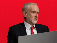 Labour Party leader Jeremy Corbyn reacts as a delegate passionately argues against rushing through a proposed change to the selection of local MPs at the ACC Liverpool during the first day of the annual Labour Party conference on September 23, 2018 in Liverpool, England. Labour's official slogan for the conference …