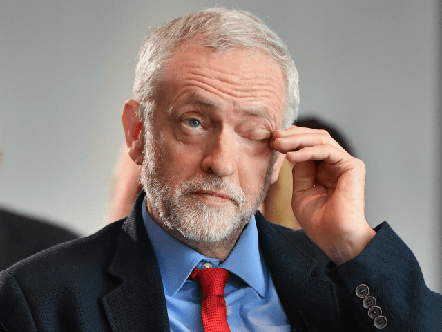 Labour Party Leader Jeremy Corbyn attends anti-semitism inquiry findings at Savoy Place, on June 30, 2016 in London England.The Labour leader said there was no acceptable form of racism as he was speaking after the launch of a report by the former director of Liberary, Shami Chakrabarti. (Photo by Jeff …