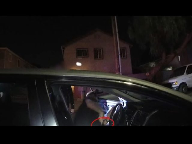 Several different angles show a police officer getting shot by a gang member who was then shot and killed during a traffic stop in in North Hills. WARNING: This video has not been edited and shows the shootings in their entirety. Viewer discretion is advised. (Published Monday, Sept. 10, 2018)