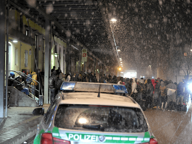 migrants snow germany getty