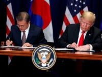 Donald Trump Signs Renegotiated Trade Agreement with South Korea
