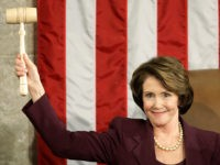 WASHINGTON - JANUARY 04: Speaker of the House Nancy Pelosi (D-CA) holds up the Speaker's gavel after being elected as the first woman Speaker during a swearing in ceremony for the 110th Congress in the House Chamber of the U.S. Capitol January 4, 2007 in Washington, DC. Pelosi will lead …