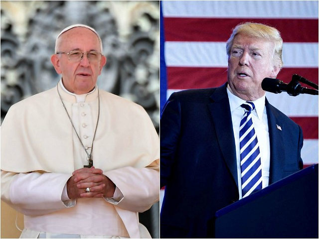 Pope Fransis and President Donald Trump