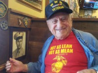"President Donald Trump called ""Sam the Marine"" as he celebrated his 100th birthday"