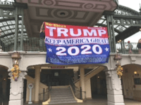 Two Men Briefly Hang 'Trump 2020' Banner at Disney World