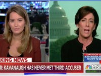 "Wednesday on MSNBC's ""Live,"" host Katy Tur questioned Brett Kavanaugh's …"