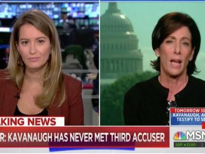 "Wednesday on MSNBC's ""Live,"" host Katy Tur questioned Brett Kavanaugh's …"