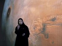 "Sarah Amiri, Deputy Project Manager of a planned United Arab Emirates Mars mission talks about the project named ""Hope"" — or ""al-Amal"" in Arabic — which is scheduled be launched in 2020, during a ceremony in Dubai, UAE, Wednesday, May 6, 2015. It would be the Arab world's first space …"